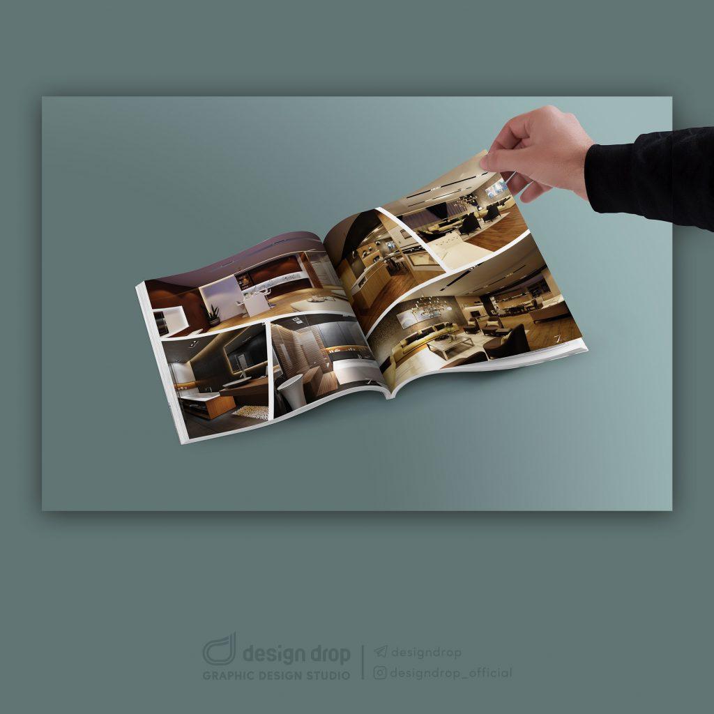 طراحی کاتالوگ شرکت هفتاثر