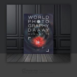 طراحی پوستر روز جهانی عکاسی
